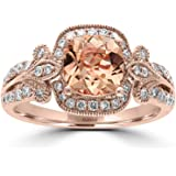 Effy 14K Rose Gold Morganite & Diamond Ring, 1.53 TCW