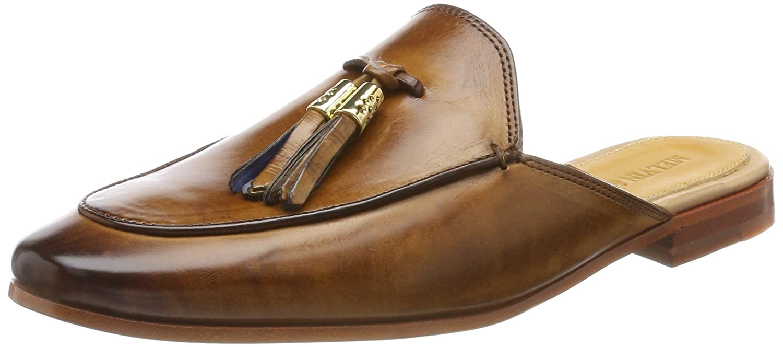 MELVIN MELVIN MELVIN & HAMILTON MH HAND MADE Schuhe OF CLASS Damen Scarlett 2 Pantoletten Braun (Crust/Tassel Wood-e.Blau/Acc/Ls Nat.) 083a6c