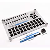 33 Switch Tester Switch Opener Acrylic Lube Station DIY Double-Deck Removal Platform Keycaps Puller for Custom Gateron Cherry