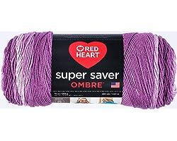 Coats & Clark Super Saver Ombre Yarn, 10 oz, Purple