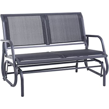 amazon com superjare outdoor swing glider chair  patio Outdoor Loveseats Patio Furniture DIY Outdoor Furniture Plans