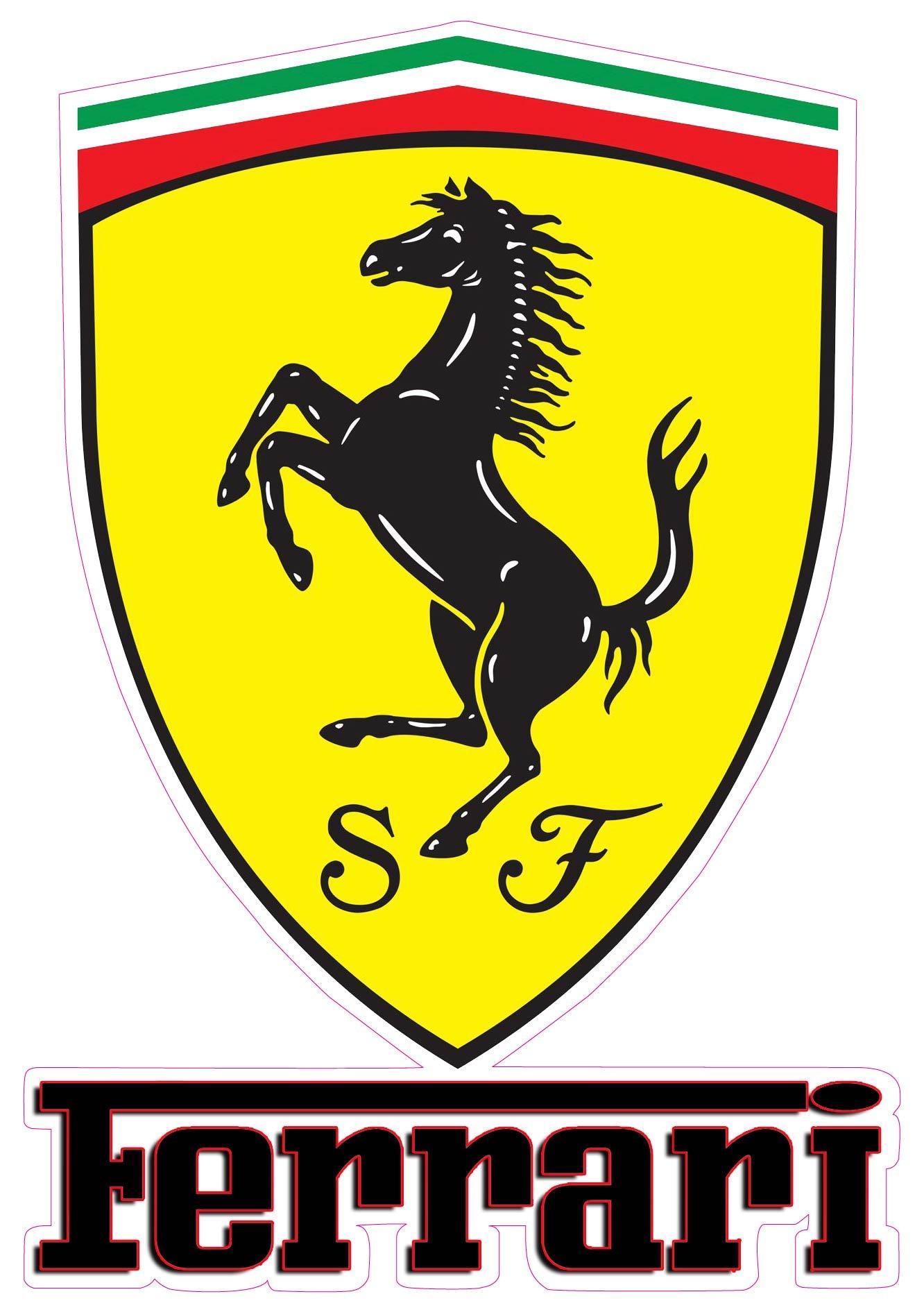2Pcs Car Sticker Rear Side Emblem Badge Auto Accessories For Ferrari 488 ff 458