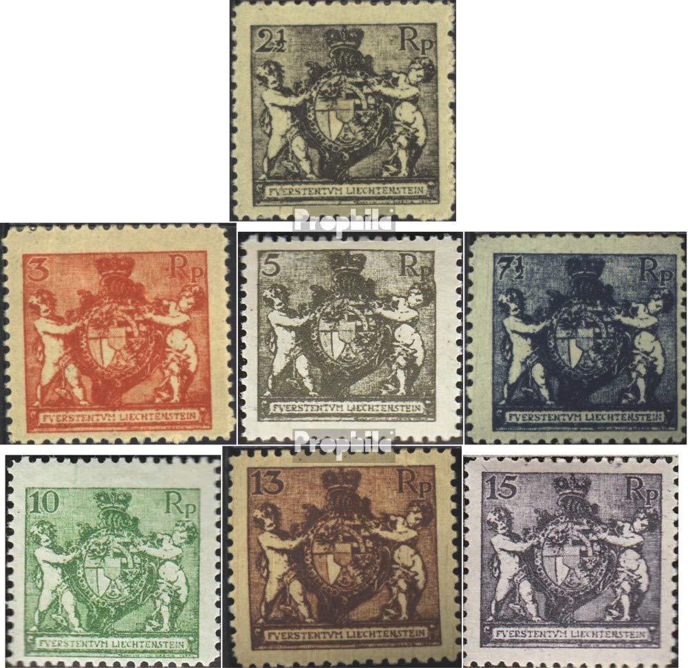 Prophila Collection Liechtenstein 46B-52B (Completa.edición.), dentado L12 1/2 1921 Escudo de Armas (Sellos para los coleccionistas)