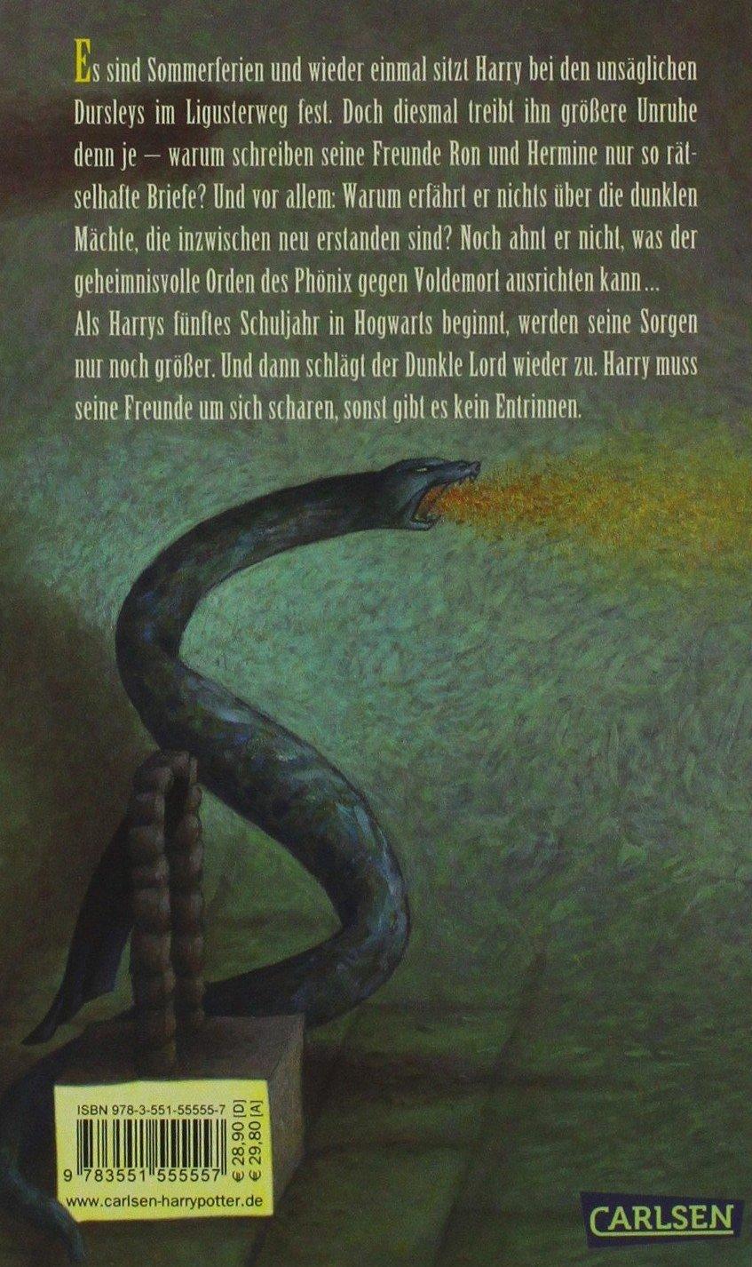 Harry Potter Und Der Orden Des Phonix 5 Amazon Es Rowling J K Libros En Idiomas Extranjeros