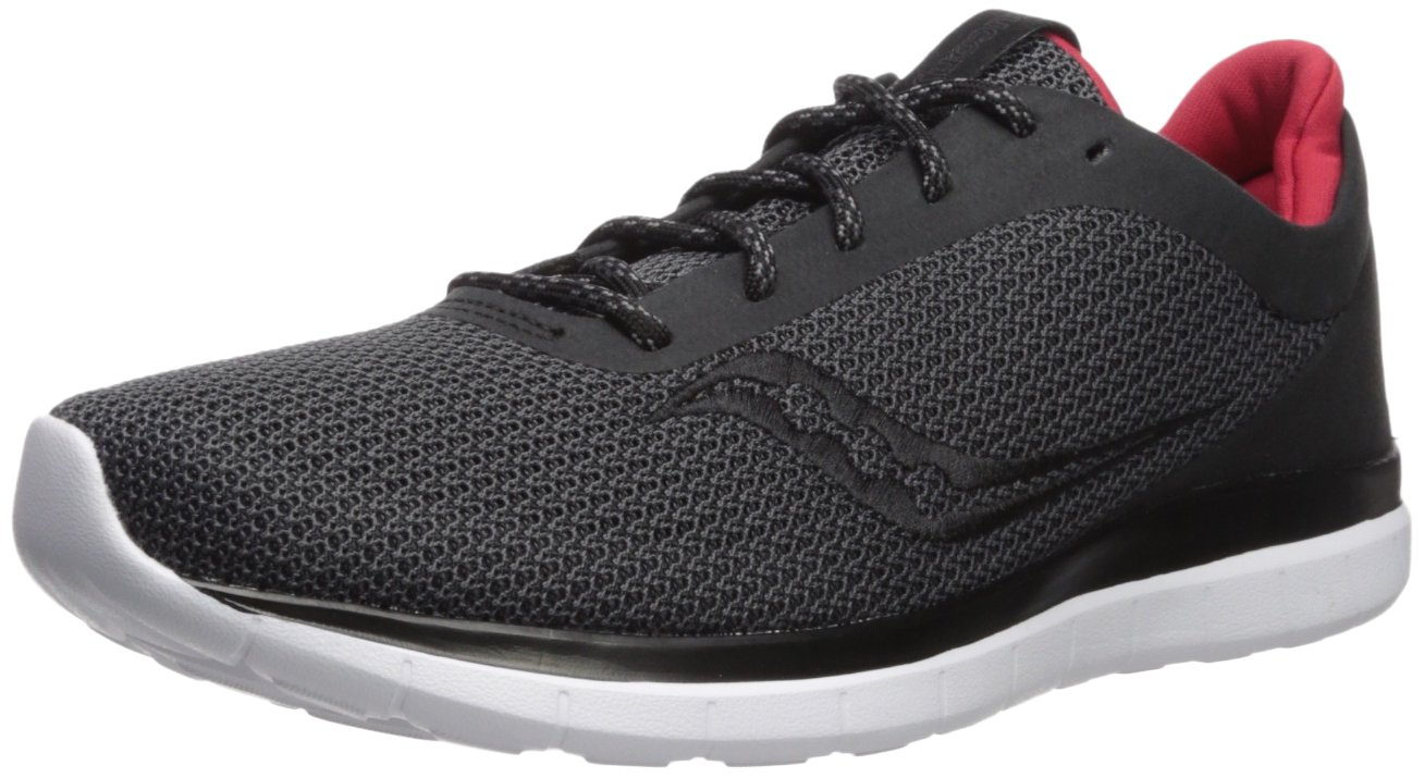 Saucony Men's Liteform Escape Running Shoe B071JM5MZT 12 D(M) US|Black/Charcoal