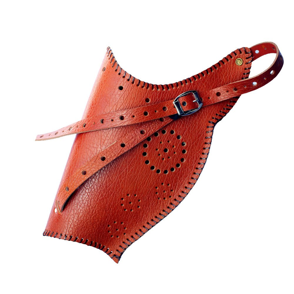 MAYARMS Traditional Longbow Quiver Brown Leather Archery Bow Quiver Hand-made Longbow Cases Archery Bow Case Archery Accessories