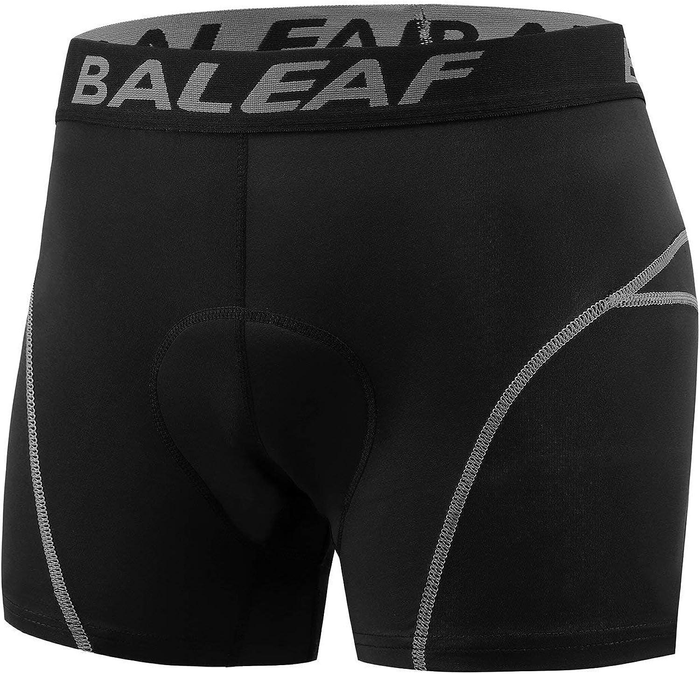 Grey BALEAF 2 Pack Mens Bike Cycling Underwear Shorts 3D Padded Bicycle MTB Liner Shorts Blue Size L