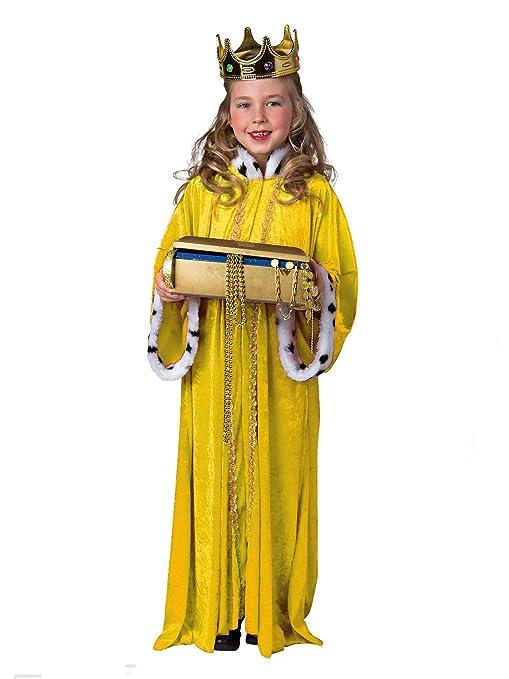 Estrella Singer Disfraz Rey abrigo amarillo tamaño 140/152