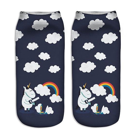 Rainbow Fox mujer unicornio calcetines único diseño, cómodo Deportes calcetines Niños (#1)