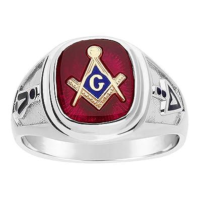IBG Sterling Silver Blue Lodge Masonic Ring