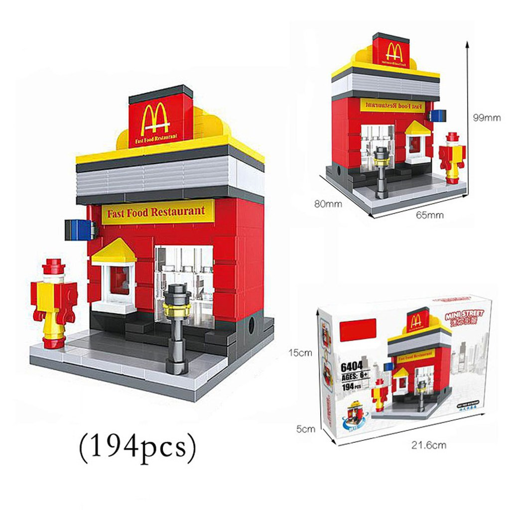 Amazon.com: 1 Box Diamond Block Building McDonalds Building Stacked ...