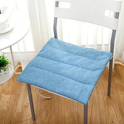 Amazon.com: Gaojiangang - Cojín para silla de lino grueso ...