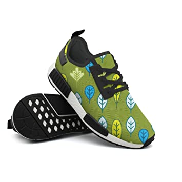 Cartoon Leaf Pattern-01 Men s Hunting Lightweight Sneakers Shoes Gym  Outdoor Walking Shoes 20c0e5a07