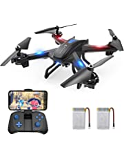 SNAPTAIN WiFi FPV Drone with 720P HD Camera, Voice Control Live Video RC Quadcopter with Altitude Hold,Gravity Sensor Function