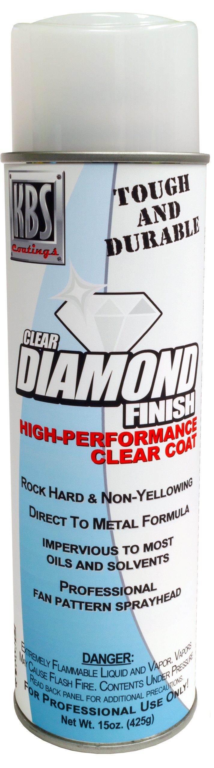 KBS Coatings 8124 Clear Satin Diamond Finish Aerosol, Covers 35 sq ft by KBS Coatings