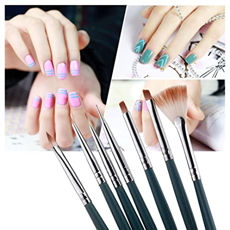 Amazon 7pcsset Diy Professional Nail Art Design Painting Tool