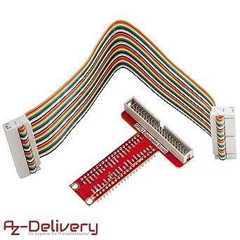 AZDelivery GPIO Breakout tarjeta y compatible Ribbon Cable para ...