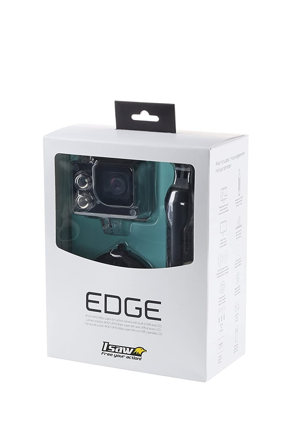 Amazon.com : INBYTE full HD action cam wearable camera 40m waterproof ISAW EDGE : Electronics