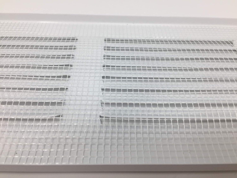 200x100mm Wei/ß L/üftungsgitter Abschlussgitter Insektenschutz Abluft Zuluft Metall Gitter