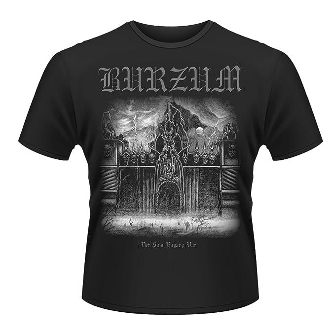 Burzum Plastichead Det Som Engang VAR 2013 Official Mens Black Small t-Shirt