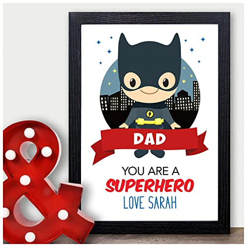 5242d106b Personalised Batman Birthday Gift For Dad - Superhero Birthday Gifts for  Daddy - PERSONALISED ANY RECIPIENT
