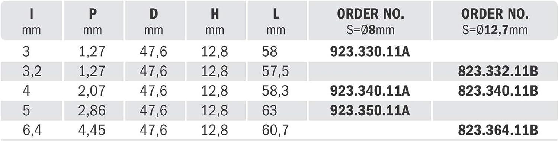 Nutenfr/äser mit Trennscheibe Z3 HM S=8 D=47,6 X 3.
