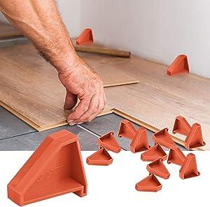 Flooring Spacers,Laminate Wood Flooring Tools(12 Pack),Compatible w/Vinyl Plank, Hardwood & Floating Floor Installation etc,Hardwood Flooring w/1/4 Gap,Special Triangle Stay in Place