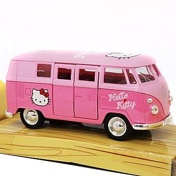 hello kitty volkswagen kids bus die cast pull back go action