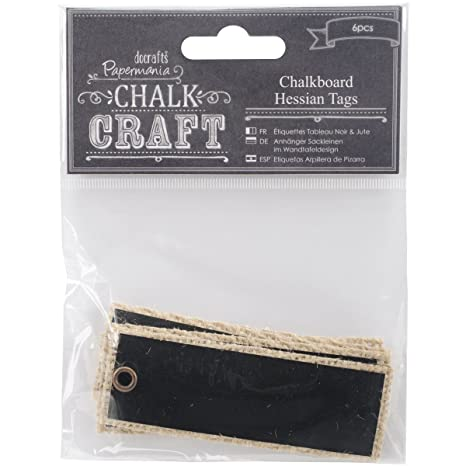 Amazon.com: Chalk Craft Chalkboard Hessian Tags 6/Pkg-: Home ...