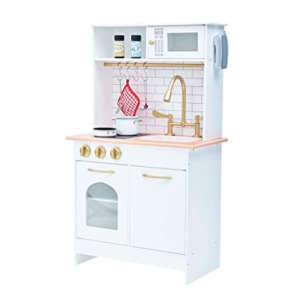 ce32075d623 Image Unavailable. Image not available for. Color  Teamson Kids TD-12679C Little  Chef Boston Modern Play Kitchen