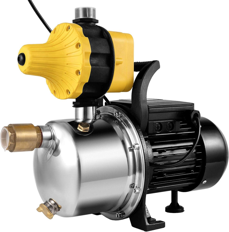 VEVOR Shallow Well Jet Pump 1/2 HP, Jet Pump 45 L/Min Max. Flow, 114.8 ft Max. Head Well Jet Pump, Pressure Booster Pump Shallow Well Self-priming Jet Pump System with an Electric Control