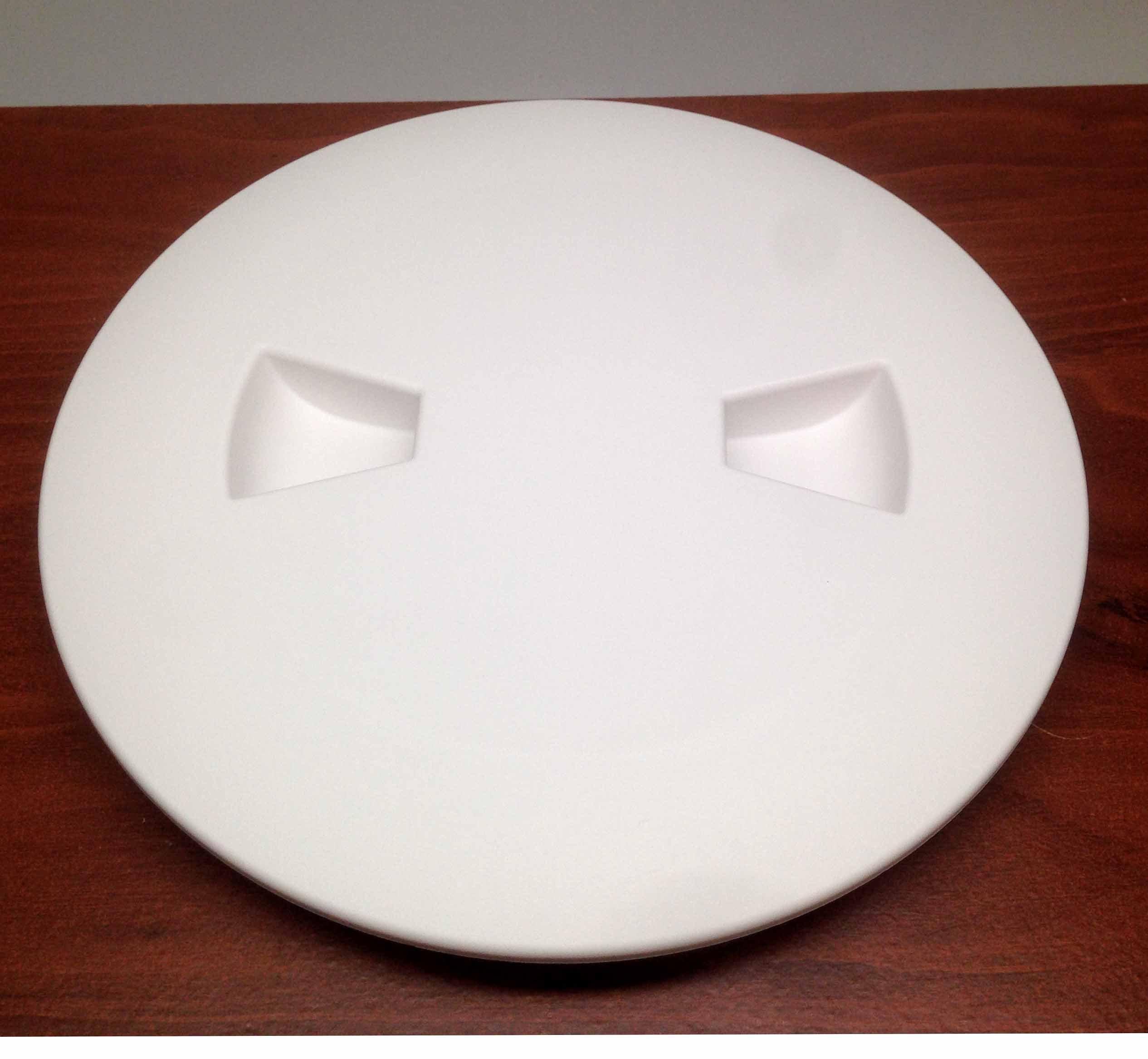 MARINE BOAT WHITE PLASTIC DECK PLATE 4''D WATERPROOF INSPECTION BAYONET TYPE