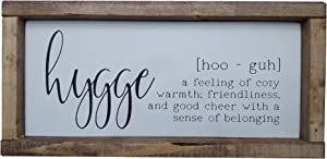 "The Rozy Home By Kelly Hygge Sign with Definition, Hygge, Hyggelig, Koselig, Scandinavian Sign, Norwegian, Danish, Swedish, Finish, Gift (6"" x 12"")"