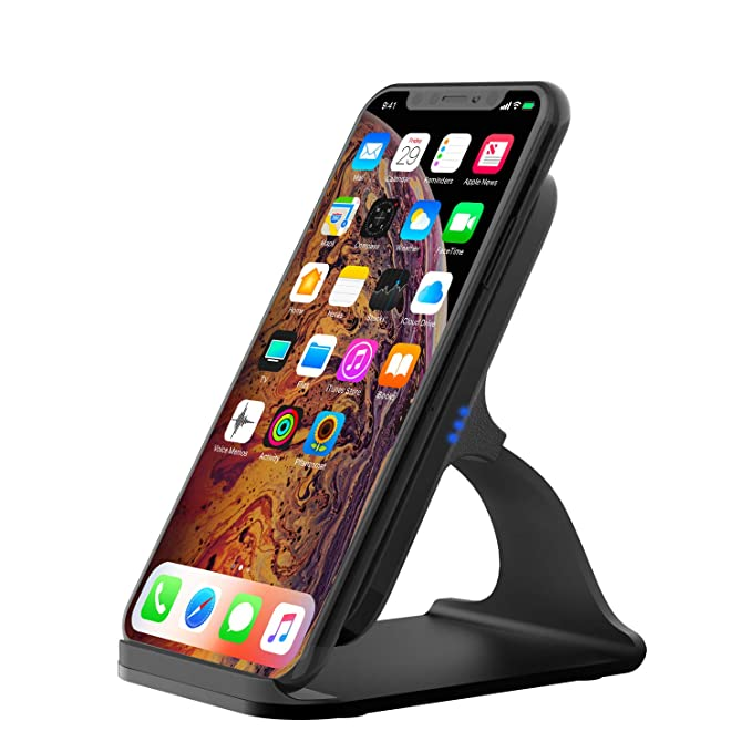 Chargers Fashion Style 10w Portable Vertical Double Coil Wireless Charger With Led Indicator Fast Charge For Qi Standard Smart Mobile Phone The Latest Fashion