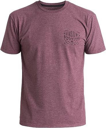 QUIKSILVER Hombres de la Ciudad Vieja Camiseta - Púrpura -: Amazon.es: Ropa y accesorios