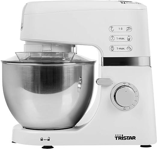 Tristar MX-4198 Robot de Cocina – 3 Accesorios incluidos – con batidora de Jarra-Blanco, 700 W, 1.5 litros, Acero Inoxidable, 6 Velocidades: Amazon.es: Hogar