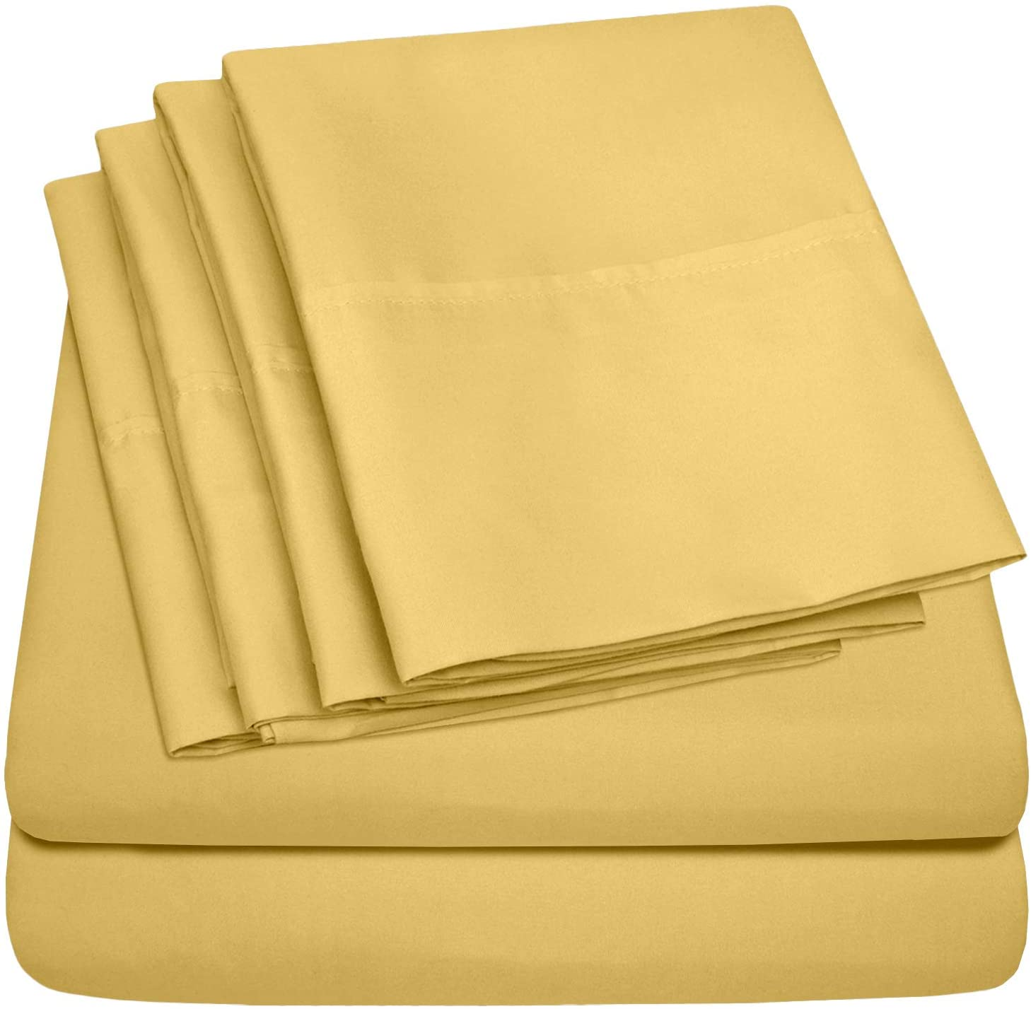 Sweet Home Collection 6 Piece Yellow Bed Sheets