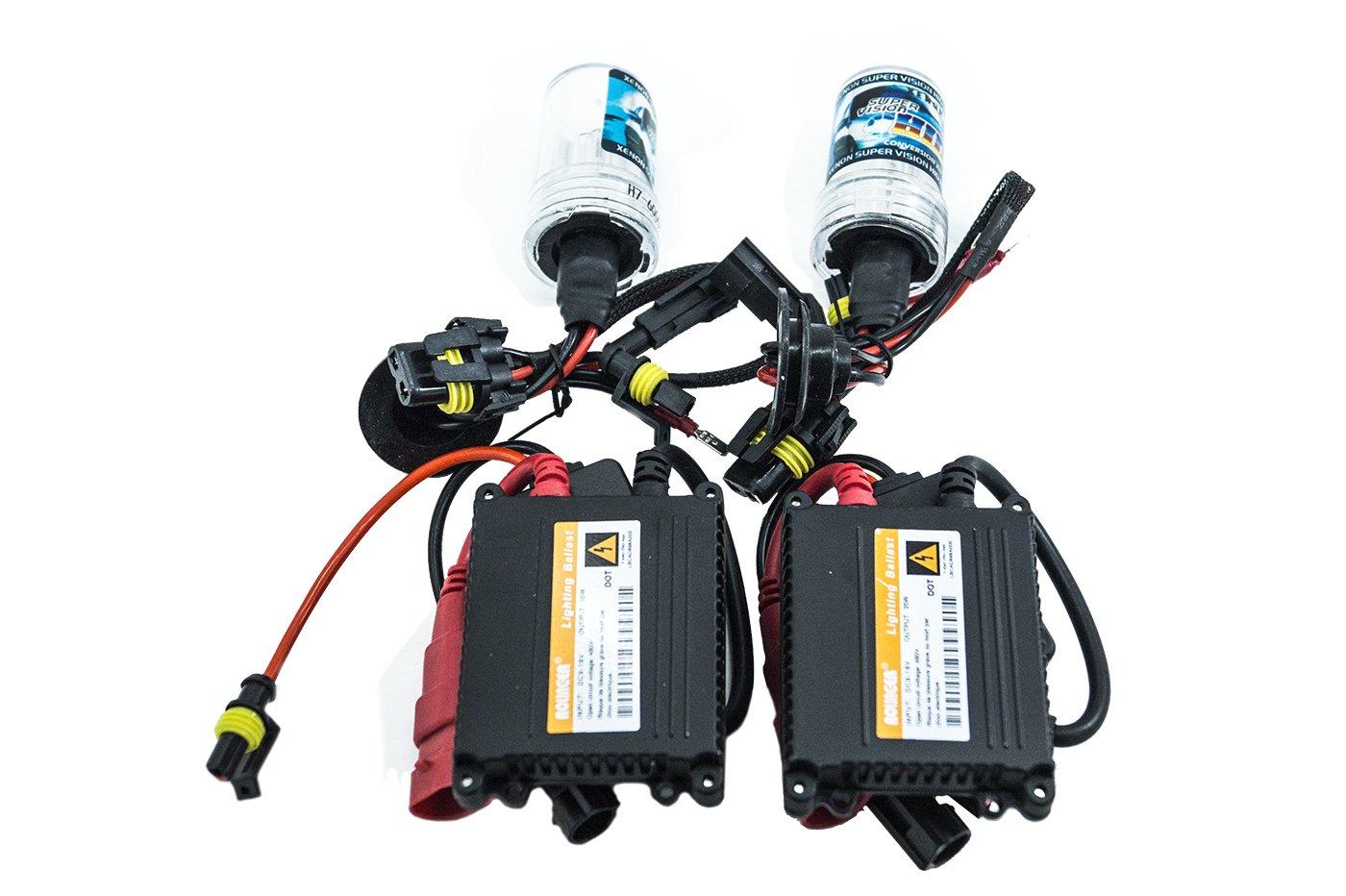KIT XENON LAMPADE H7 6000K 35W CENTRALINE SLIM COMPLETO PER LINSTALLAZIONE ADATTO PER AUTO