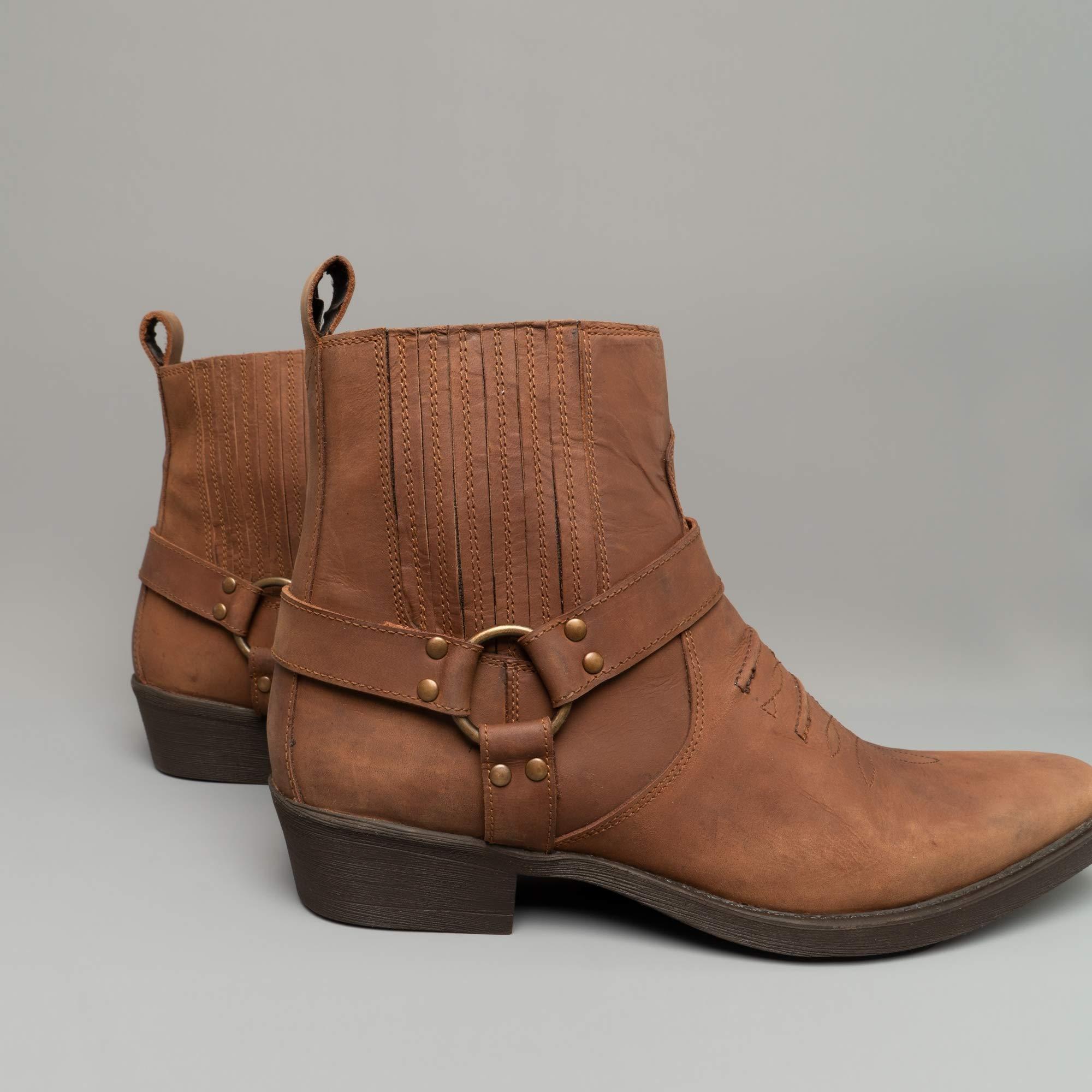Maverick Mens Soft Leather Cowboy Boots