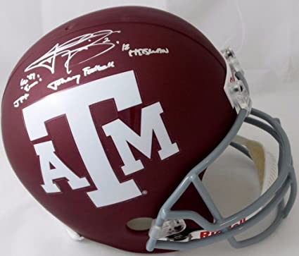 bec1a180 Amazon.com: Johnny Manziel Autographed Texas A&M Aggies Full Size ...