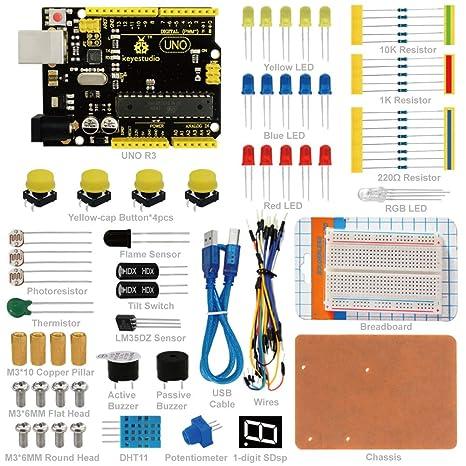 Amazon keyestudio basic starter kit for arduino project coding keyestudio basic starter kit for arduino project coding kit with tutorial uno r3 atmega328p publicscrutiny Choice Image