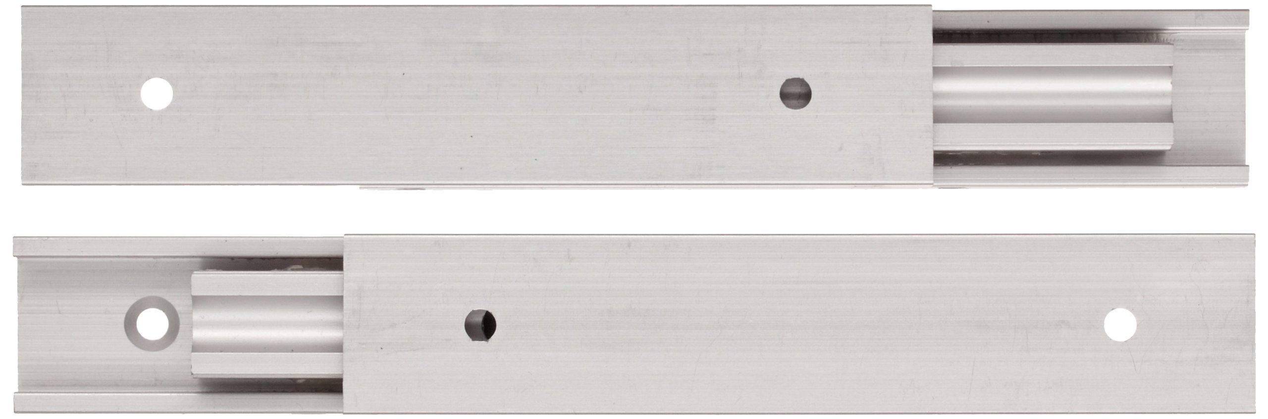 Sugastune AR3 Aluminum Drawer Slide, Full Extension, Positive Stop, 7-7/8'' Closed, 8-25/32'' Travel, 32 lbs/Pack Ld Cap (1 Pair)