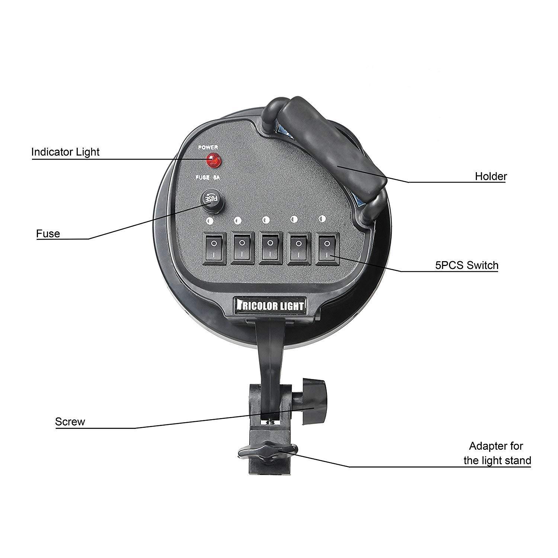 Emart Softbox Photography Lighting Kit,2250 Watt Continute Lighting Photo Studio Softbox 20'' x 28'', 10pcs E27 Video Lighting Bulb by EMART (Image #5)