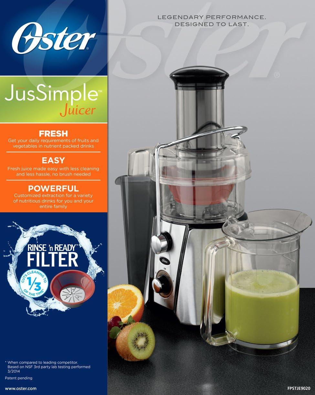 Oster JusSimple Extractor de zumo de 5 velocidades fácil de ...