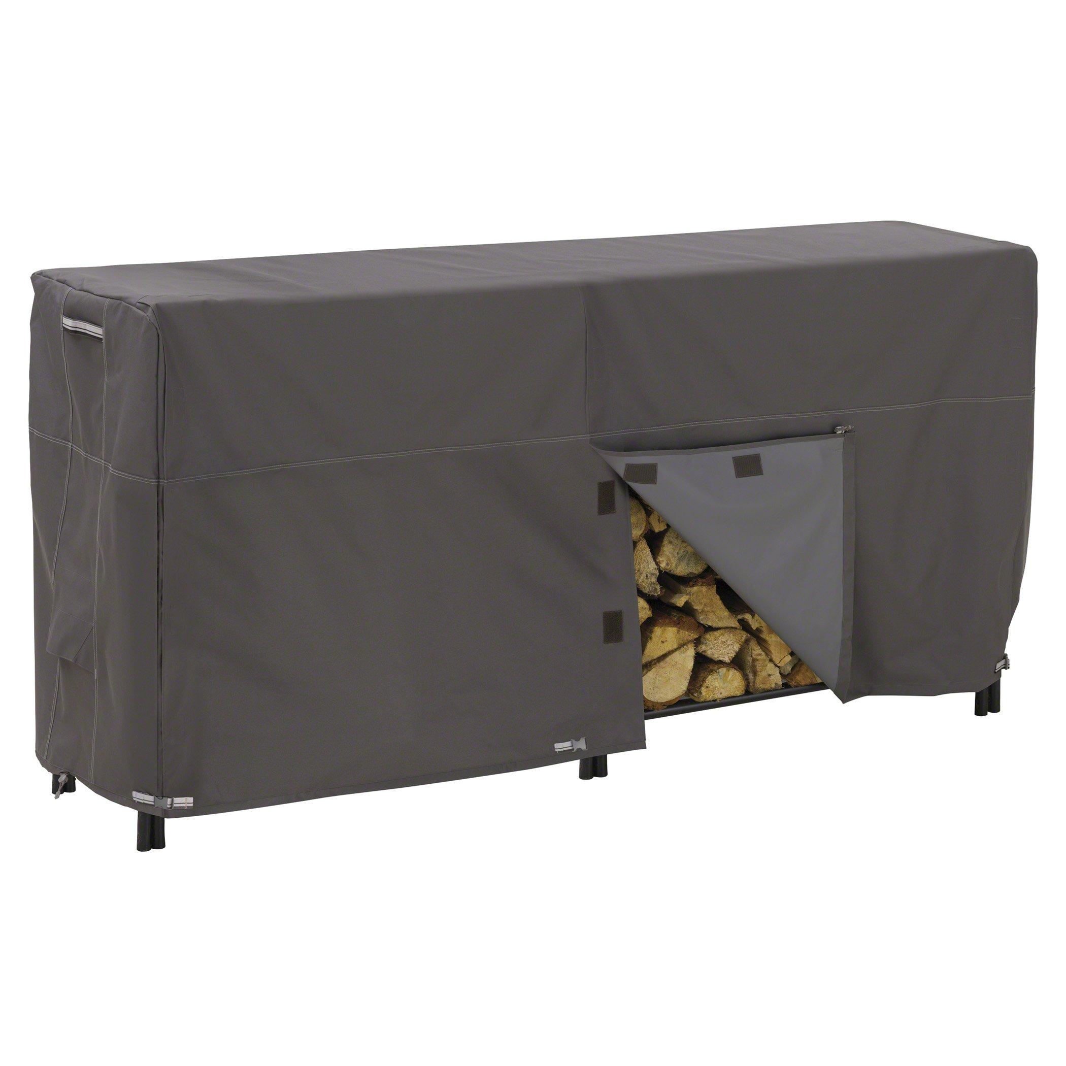 Classic Accessories Ravenna Log Rack Cover - Premium Outdoor Cover with Durable and Water Resistant Fabric, 8-Feet (55-172-045101-EC)