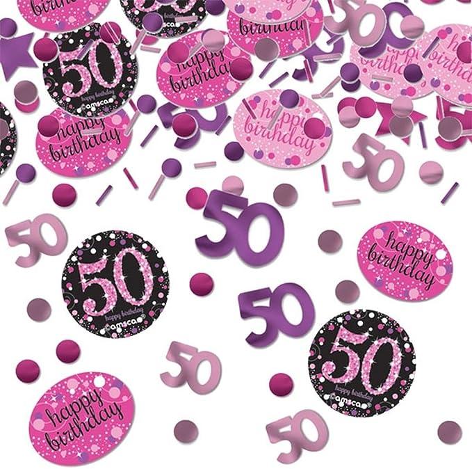 Deckenhänger Swirl Konfetti Geburtstag Pink Schwarz Lila metallic Deko-Set