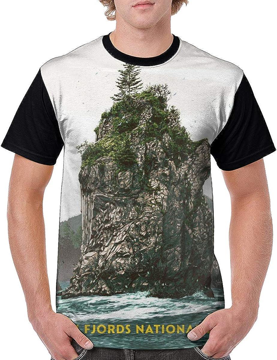 Amazon Com Mens Kenai Fjord National Park Poster Alaska Seward Novelty Casual Tshirt 3d Printed Crewneck Graphic Tees Unisex Clothing