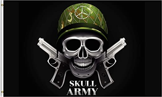 amazon com shinesnow funny skull army military soldier gun 5x8 feet flag polyester happy veterans day double stitched with brass grommets 5 x 8 ft flag for outdoor indoor decor garden outdoor shinesnow funny skull army military soldier gun 5x8 feet flag polyester happy veterans day double stitched with brass grommets 5 x 8 ft flag for