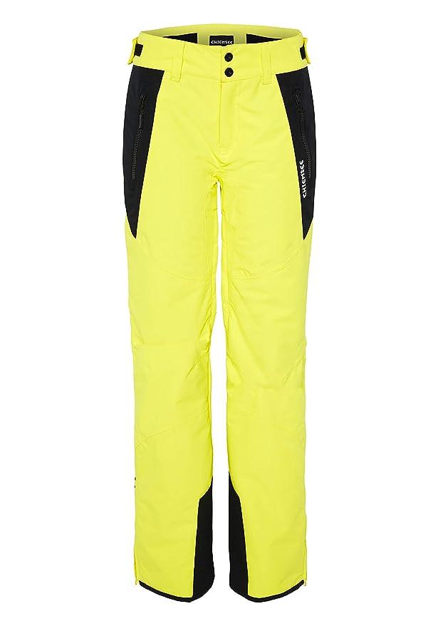 Pantalón de esquí para mujer amarillo neón