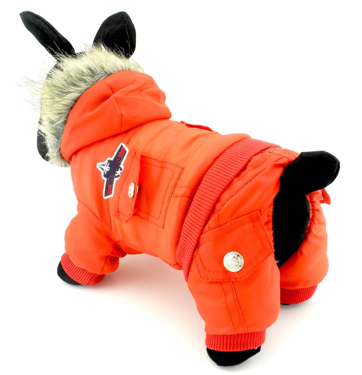 Zunea Padded Waterproof Small Dog Winter Jumpsuit Pet Puppy Jacket Coat Fleece Warm Snowsuit Airman Chihuahua Yorkie Outfits Clothes Apparel (This Style Run Small, pls Choose one Size Larger)